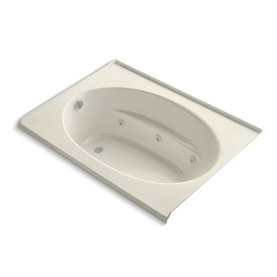 Windward Alcove 60 x 42 Whirpool Bathtub Finish: Almond