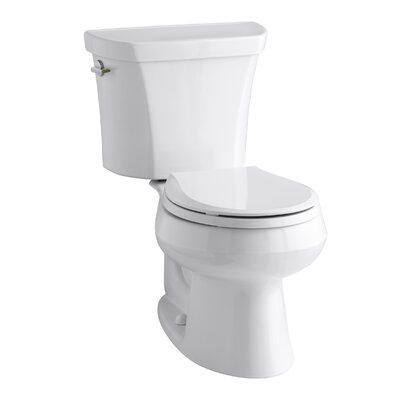 Wellworth 1.6 GPF Round Two-Piece Toilet Finish: White