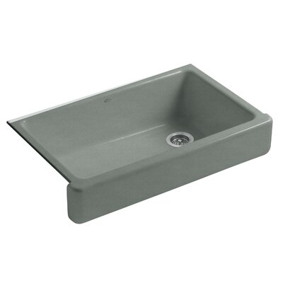 Whitehaven Self-Trimming 35-11/16 x 21-9/16 x 9-5/8 Under-Mount Single-Bowl Kitchen Sink with Short Apron Sink Finish: Basalt