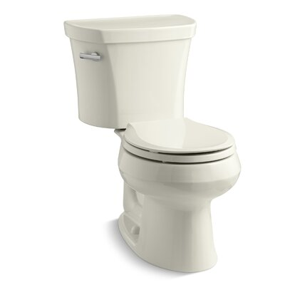 Wellworth Classic Two-Piece Round-Front 1.28 GPF Toilet with Class Five Flush Technology, Left-Hand Trip Lever and Tank Cover Locks Finish: Biscuit