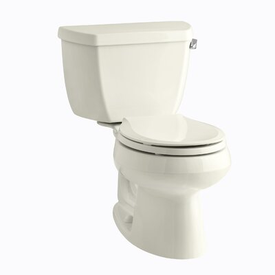 Wellworth Classic Two-Piece Round-Front 1.28 GPF Toilet with Class Five Flush Technology, Right-Hand Trip Lever and Tank Cover Locks Finish: Biscuit