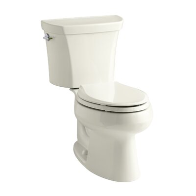 Wellworth 1.6 GPF Elongated Two-Piece Toilet Finish: Biscuit