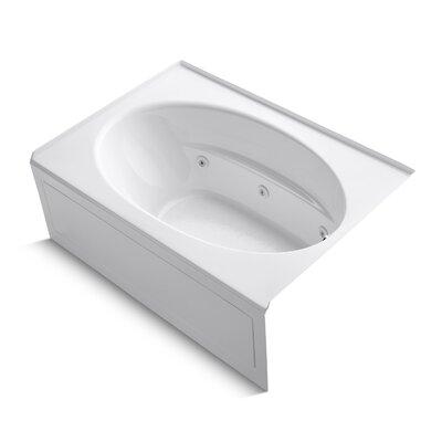 Windward 60 x 42 Whirlpool Bathtub Finish: White