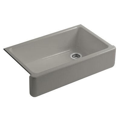 Whitehaven Self-Trimming 35-11/16 x 21-9/16 x 9-5/8 Undermount Single-Bowl Kitchen Sink with Tall Apron Finish: Cashmere