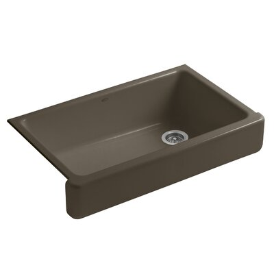 Whitehaven Self-Trimming 35-11/16 x 21-9/16 x 9-5/8 Under-Mount Single-Bowl Kitchen Sink with Short Apron Sink Finish: Suede