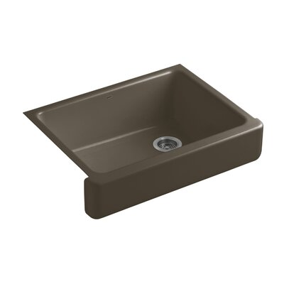 Whitehaven Self-Trimming 29-1/2 x 21-9/16 x 9-5/8 Undermount Single-Bowl Kitchen Sink with Short Apron Finish: Suede