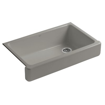 Whitehaven Self-Trimming 35-11/16 x 21-9/16 x 9-5/8 Under-Mount Single-Bowl Kitchen Sink with Short Apron Sink Finish: Cashmere