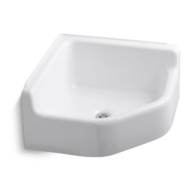 Whitby 28 x 28 Single Floor-Mounted Corner Service Sink