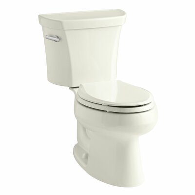 Wellworth Two-Piece Elongated 1.6 GPF Toilet with Class Five Flush Technology, Left-Hand Trip Lever and Tank Cover Locks Finish: Biscuit
