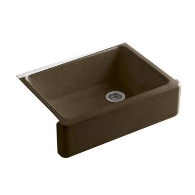 Whitehaven 29.69 x 21.69 Farmhouse Single Bowl Kitchen Sink Finish: Black n Tan