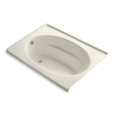 Windward Alcove Bubblemassage 60 x 42 Soaking Bathtub Finish: Almond