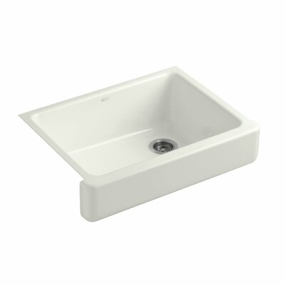 Whitehaven Self-Trimming 29-1/2 x 21-9/16 x 9-5/8 Undermount Single-Bowl Kitchen Sink with Short Apron Finish: Dune