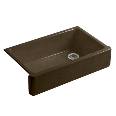 Whitehaven Self-Trimming 35.69 x 21.56 Farmhouse Single Bowl Kitchen Sink Finish: Black n Tan