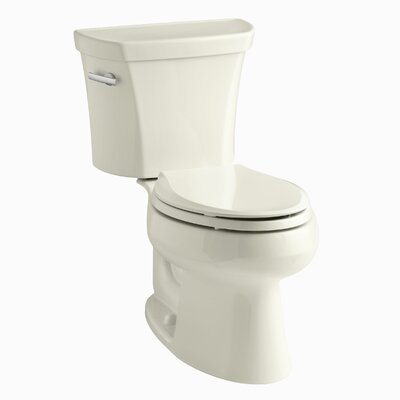 Wellworth Two-Piece Elongated 1.6 GPF Toilet with Class Five Flush Technology, Left-Hand Trip Lever and Tank Cover Locks Finish: Almond