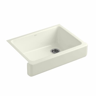Whitehaven Self-Trimming 29-1/2 x 21-9/16 x 9-5/8 Undermount Single-Bowl Kitchen Sink with Short Apron Finish: Biscuit