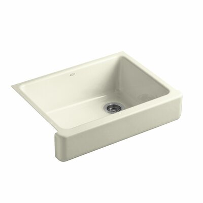 Whitehaven Self-Trimming 29-1/2 x 21-9/16 x 9-5/8 Undermount Single-Bowl Kitchen Sink with Short Apron Finish: Cane Sugar