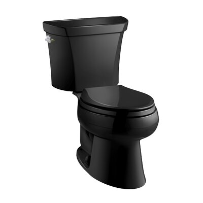 Wellworth 1.6 GPF Elongated Two-Piece Toilet Finish: Black Black