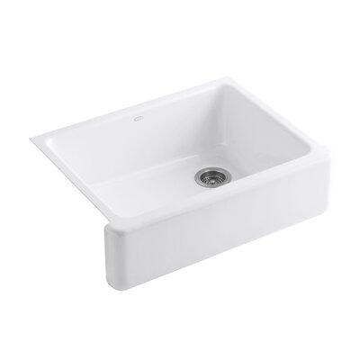 Whitehaven 29.69 x 21.69 Farmhouse Single Bowl Kitchen Sink Finish: White