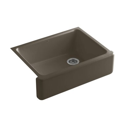 Whitehaven 29.69 x 21.69 Farmhouse Single Bowl Kitchen Sink Finish: Suede