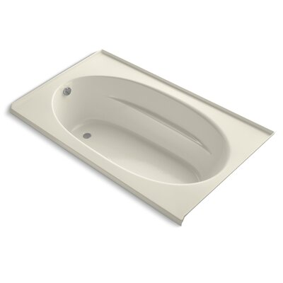 Windward Alcove Bubblemassage 72 x 42 Soaking Bathtub Finish: Almond