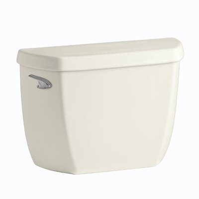 Wellworth Classic 1.28 GPF Toilet Tank with Class Five Flushing Technology and Left-Hand Trip Lever with Tank Locks Finish: Biscuit