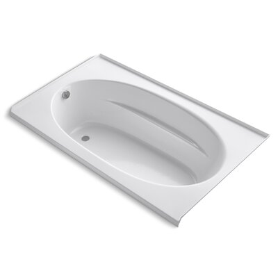 Windward Alcove Bubblemassage 72 x 42 Soaking Bathtub Finish: White