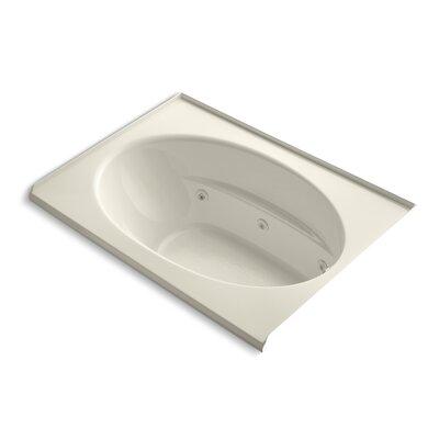 Windward Alcove 60 x 42 Whirpool Bathtub Finish: Almond