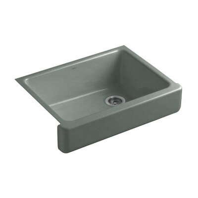 Whitehaven Self-Trimming 29-1/2 x 21-9/16 x 9-5/8 Undermount Single-Bowl Kitchen Sink with Short Apron Finish: Basalt