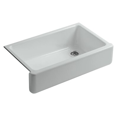 Whitehaven Self-Trimming 35-11/16 x 21-9/16 x 9-5/8 Undermount Single-Bowl Kitchen Sink with Tall Apron Finish: Ice Grey