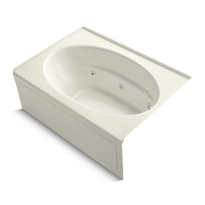 Windward 60 x 42 Whirlpool Bathtub Finish: Biscuit