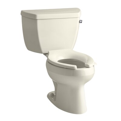 Wellworth Classic Two-Piece Elongated 1.6 GPF Toilet with Pressure Lite Flushing Technology, Right-Hand Trip Lever, Less Seat Finish: Almond