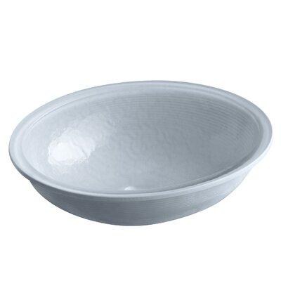 Artist Editions Whist Glass Oval Undermount Bathroom Sink Finish: Ice