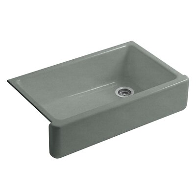Whitehaven Self-Trimming 35.69 x 21.56 Farmhouse Single Bowl Kitchen Sink Finish: Basalt
