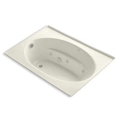 Windward 60 x 42 Whirlpool Bathtub Finish: Biscuit