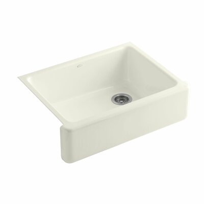 Whitehaven 29.69 x 21.69 Farmhouse Single Bowl Kitchen Sink Finish: Biscuit
