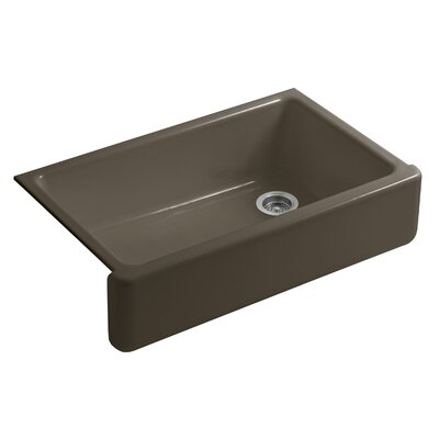 Whitehaven Self-Trimming 35-11/16 x 21-9/16 x 9-5/8 Undermount Single-Bowl Kitchen Sink with Tall Apron Finish: Suede