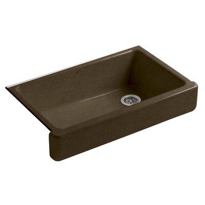 Whitehaven Self-Trimming 35-11/16 x 21-9/16 x 9-5/8 Under-Mount Single-Bowl Kitchen Sink with Short Apron Finish: Black n Tan