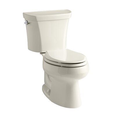 Wellworth 1.6 GPF Elongated Two-Piece Toilet Finish: Almond
