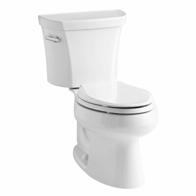 Wellworth Two-Piece Elongated 1.6 GPF Toilet with Class Five Flush Technology, Left-Hand Trip Lever and Tank Cover Locks Finish: White
