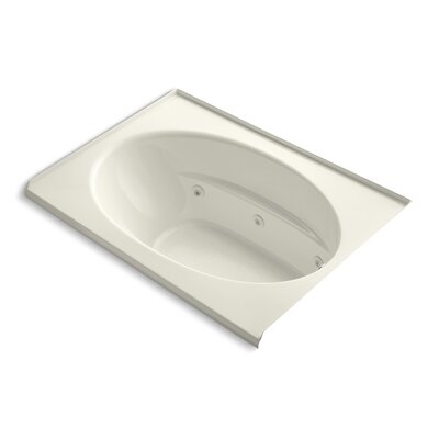 Windward Alcove 60 x 42 Whirpool Bathtub Finish: Biscuit