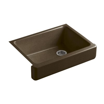 Whitehaven Self-Trimming 29-1/2 x 21-9/16 x 9-5/8 Undermount Single-Bowl Kitchen Sink with Short Apron Finish: Black n Tan