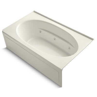 Windward 72 x 42 Air / Whirlpool Bathtub Finish: Biscuit