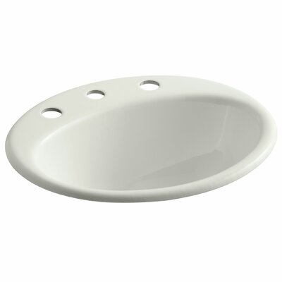 Farmington Metal Oval Drop-In Bathroom Sink with Overflow Finish: Dune