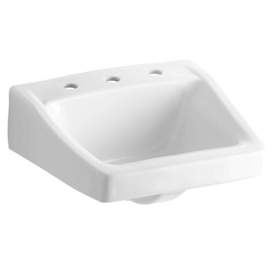 Chesapeake Ceramic 20 Wall Mount Bathroom Sink with Overflow Finish: White
