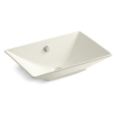 R�ve Rectangular Vessel Bathroom Sink Sink Finish: Biscuit