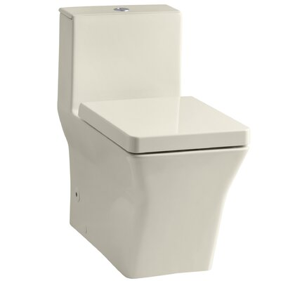 R�ve Comfort Height Skirted One-Piece Elongated Dual-Flush Toilet with Top Actuator Finish: Almond