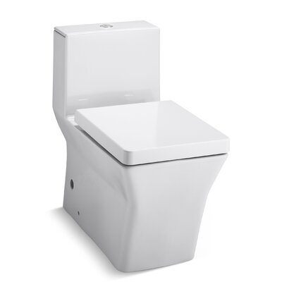R�ve Comfort Height Skirted One-Piece Elongated Dual-Flush Toilet with Top Actuator Finish: White