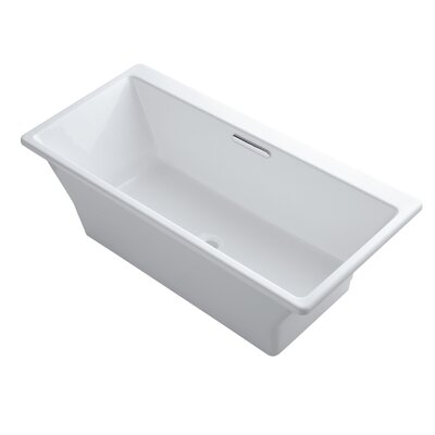 R�ve Freestanding Bath with Brilliant Blanc Base without Jet Trim