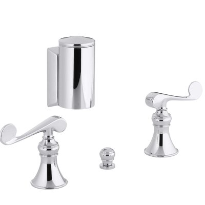 Revival Below-The-Rim Horizontal Swivel Spray Bidet Faucet with Scroll Lever Handles Finish: Polished Chrome