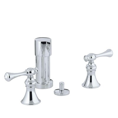 Revival Vertical Spray Bidet Faucet with Traditional Lever Handles Finish: Polished Chrome